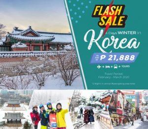FLASH SALE !! 4 DAYS WINTER IN KOREA