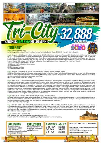 TRI-CITY _BANGKOK-SIEM REAP-HO CHI MINH
